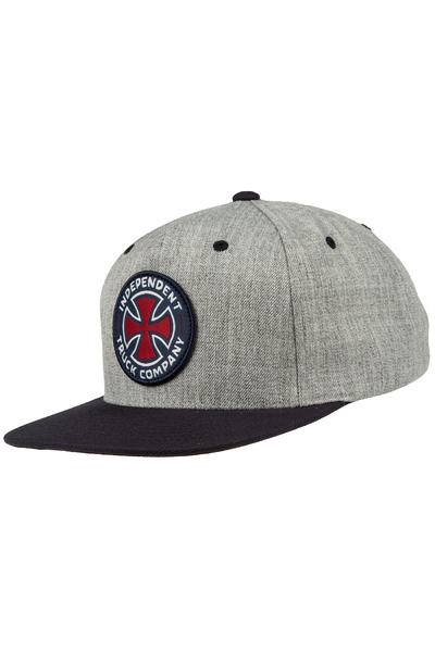 Independent ITC Cross Snapback Cap (dark heather indigo)