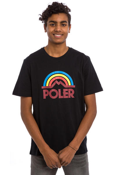 Poler Mountain Rainbow T-Shirt (black)