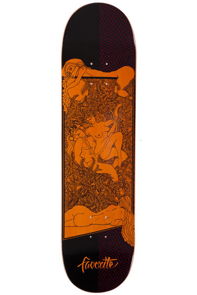 "Favorite Red Fang Orgy 8"" Planche Skate (red orange black)"