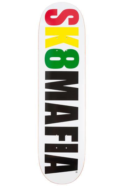 """Sk8Mafia OG Logo 8"""" Deck (white rasta)"""