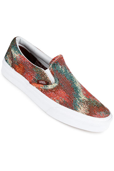 Vans Classic Slip-On Schuh women (italian weave safari multi)