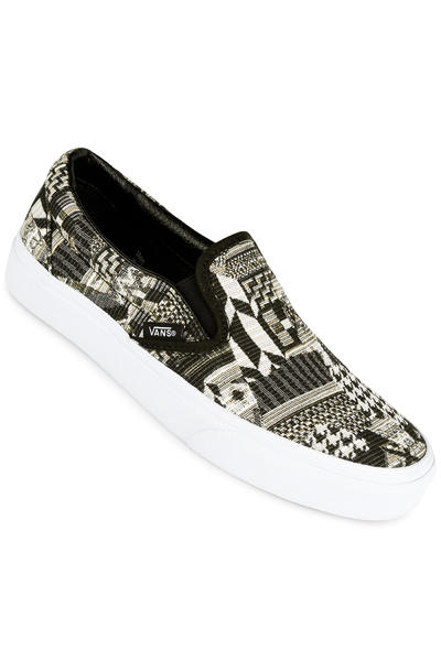 Vans Classic Slip-On Schuh women (italian weave white black)
