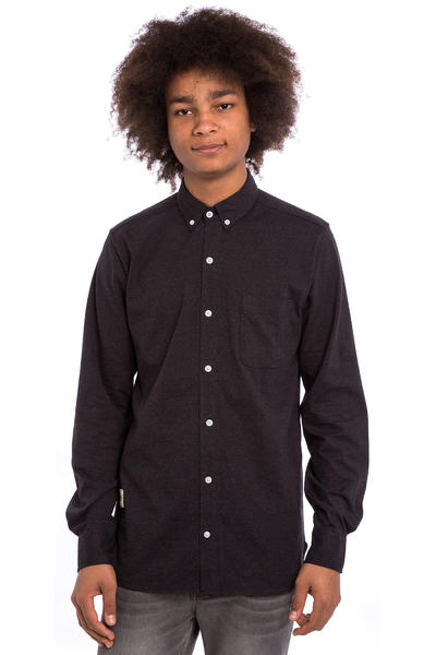 Wemoto Shaw Camisa (black melange)
