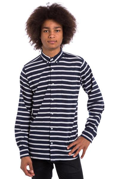 Wemoto Shaw Stripe Camisa (navyblue)