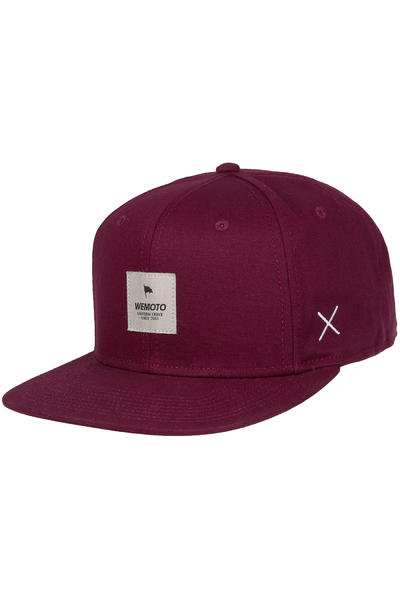 Wemoto Flag Snapback Cap (burgundy)