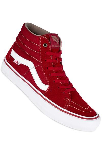 Vans Sk8-Hi Pro Shoe (red dahlia white)