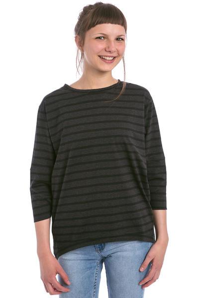 Wemoto Brighton Stripe Camiseta de manga larga women (black melange)