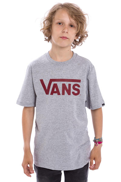 Vans Classic T-Shirt kids (athletic heather red dahlia)