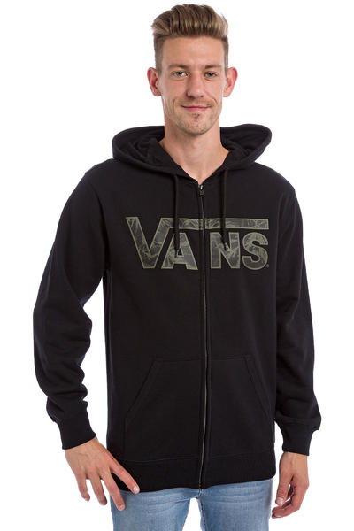 Vans Classic Zip-Hoodie (black indigo bloom)