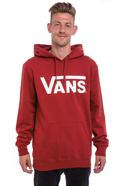 Vans Classic Hoodie (red dahlia bright white)