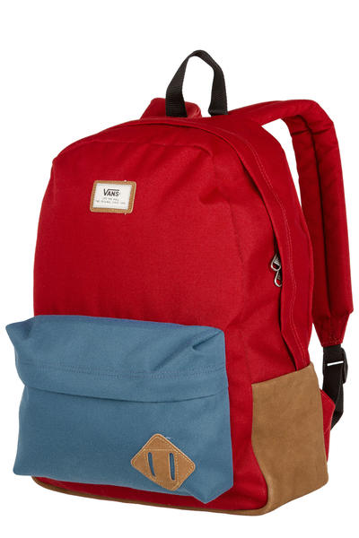 Vans Old Skool II Backpack 22L (red dahlia colorblock)