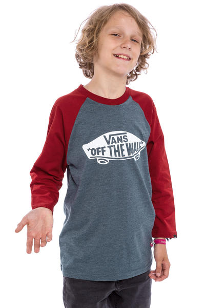 Vans OTW Raglan Longsleeve kids (heather navy red dahlia)