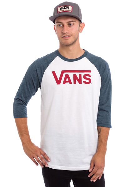 Vans Classic Raglan Longsleeve (white heather navy)