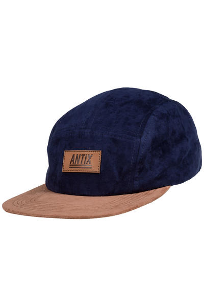 Antix Volur 5 Panel Casquette (suede blue brown)