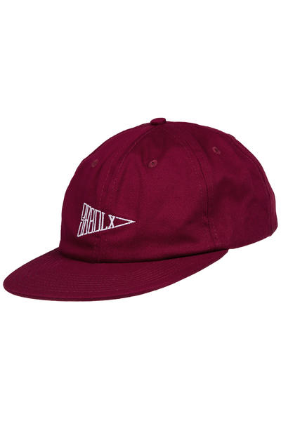 SK8DLX Flag 6 Panel Unconstructed Cap (bordeaux)