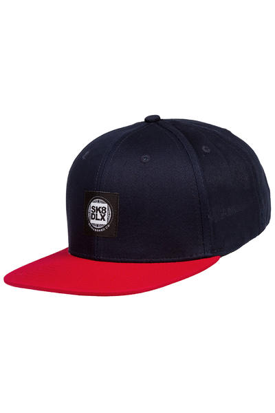 SK8DLX Worldlogo Snapback Cap (navy red)