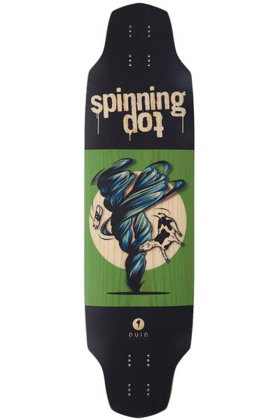 "quinboards Spinning Top 35.8"" (91cm) Longboard Deck (graphic)"