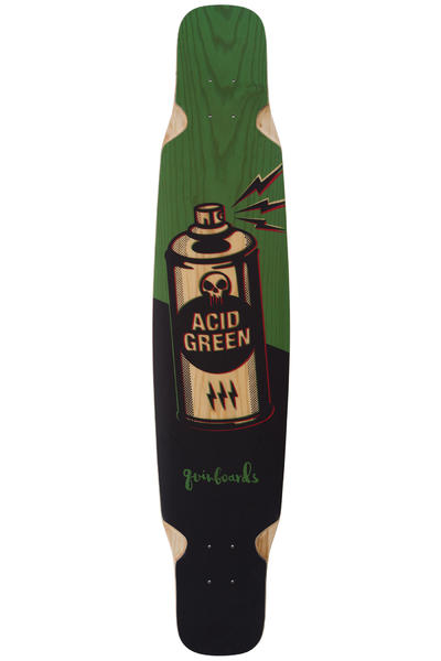 "quinboards Dancing Green 46.46"" (118cm) Longboard Deck (graphic)"