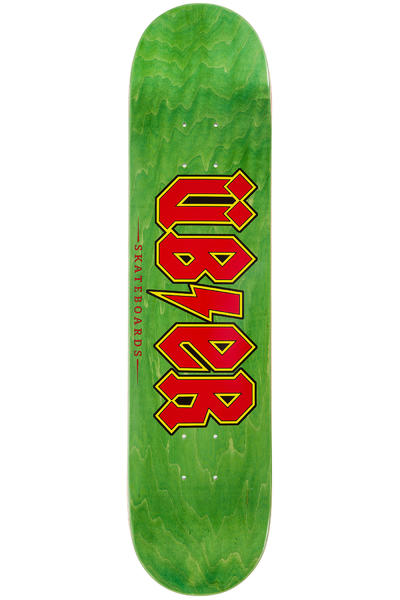 "Über Skateboards Reality Bites 7.5"" Deck (green red)"