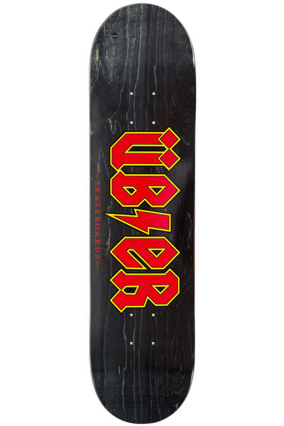 "Über Skateboards Reality Bites 7.875"" Deck (black red)"