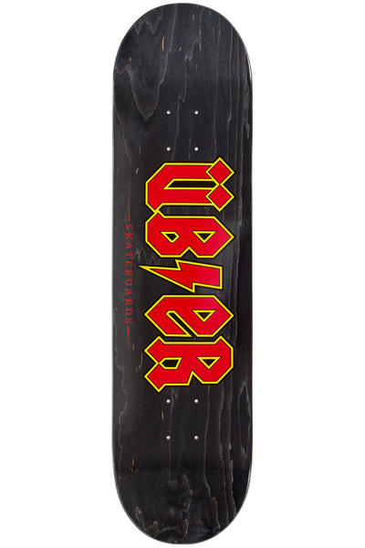 "Über Skateboards Reality Bites 8.25"" Deck (black red)"