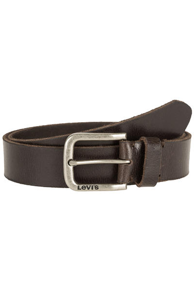 Levi's Classic Side Logo Buckle Belt (dark brown)