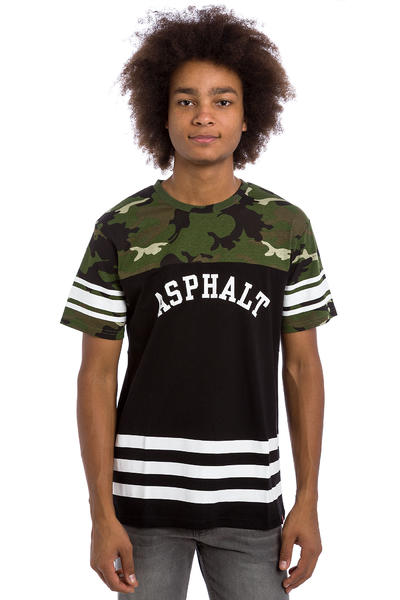 Asphalt Yacht Club Quarterback T-Shirt (black camo)