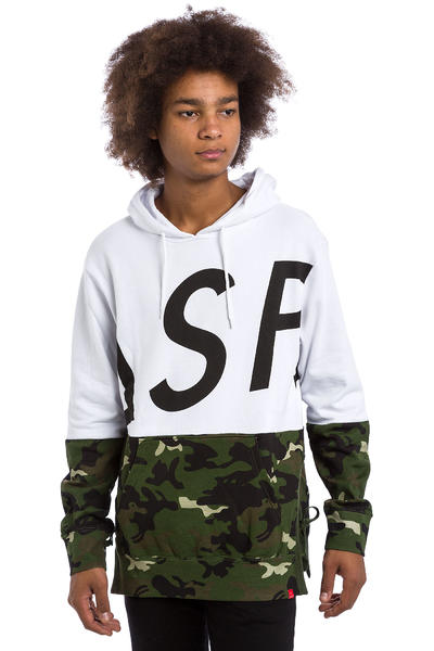Asphalt Yacht Club Split Hoodie (black white camo)