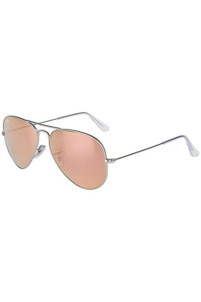 Ray-Ban Aviator Flash Metal Sunglasses 58mm (matte silver)