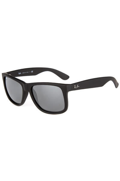 Ray-Ban Justin Sonnenbrille 55mm (rubber black silver)