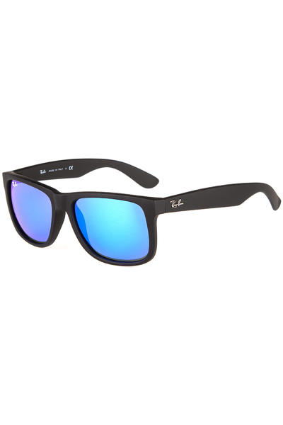 Ray-Ban Justin Sonnenbrille 55mm (black rubber blue)