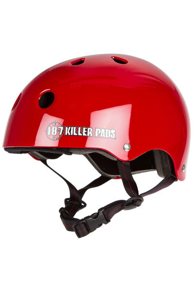 187 Killer Pads Pro Skate Helm (gloss red)