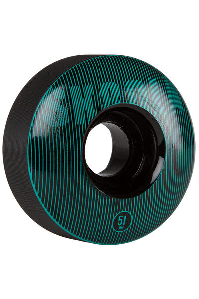 SK8DLX Stripe Series 51mm Rollen (black turquoise) 4er Pack