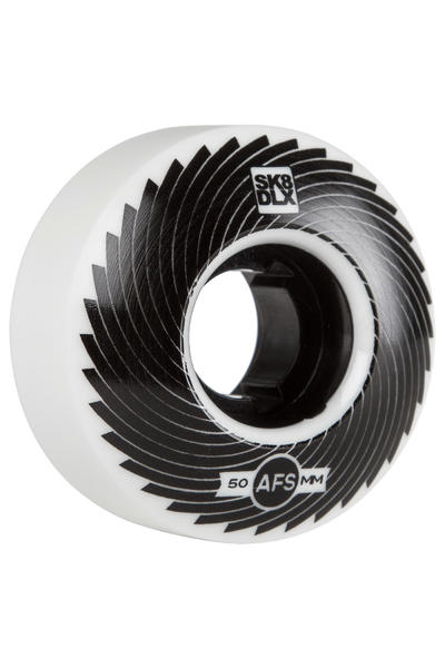 SK8DLX AFS Turbo Series 50mm Rollen (white black) 4er Pack