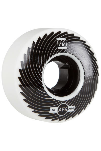 SK8DLX AFS Turbo Series 51mm Rollen (white black) 4er Pack