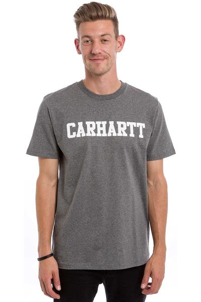 Carhartt WIP College T-Shirt (dark grey heather white)