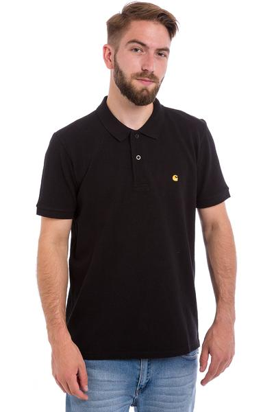 Carhartt WIP Slim Fit Polo-Shirt (black gold)