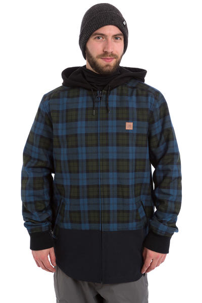 DC Backwoods Flannel Snow Zip-Hoodie (black)
