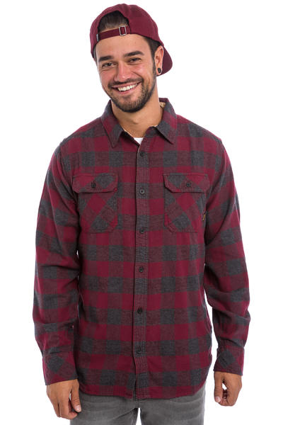 Burton Brighton Flanellhemd (wino heather buffalo)