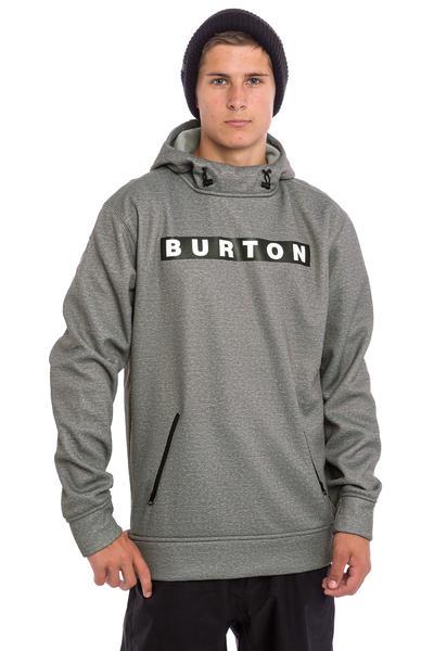 Burton Crown Bonded Sudadera Snow (monument heather)