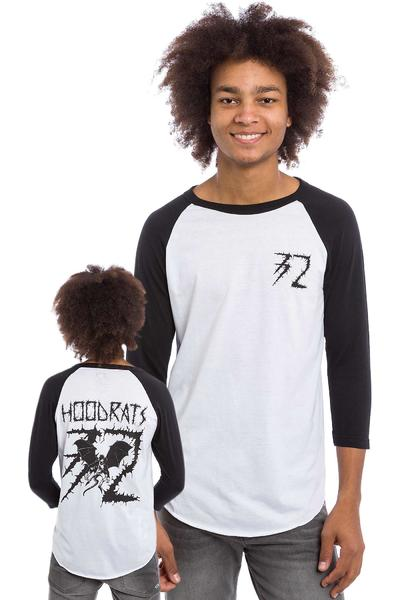 ThirtyTwo x Hood Rat Bat Raglan 3/4 Camiseta de manga larga (white black)