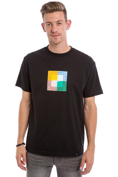 HUF Colors Paisley Box T-Shirt (black)