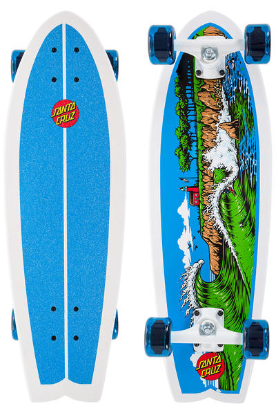 "Santa Cruz Land Shark The Point 8.8"" x 27.7"" Cruiser (white blue)"