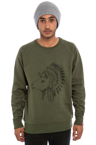 Private Hippie Lama Sweatshirt (heather kaki)