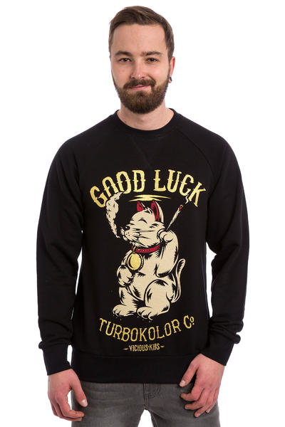 Turbokolor Lucky Cat Sweatshirt (black)