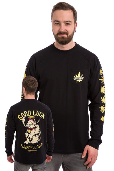 Turbokolor Lucky Cat Pocket Longsleeve (black)