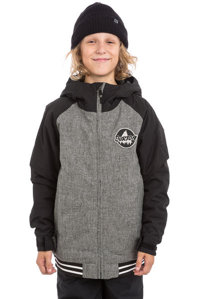 Burton Game Day Snowboard Jacke kids (heather iron gray true black)