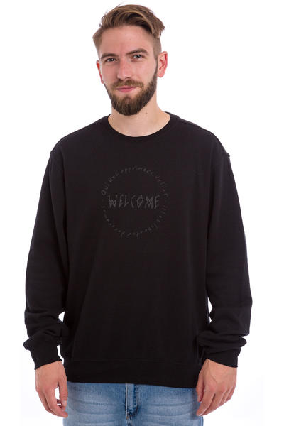 Welcome Latin Lightweight Sweatshirt (black)