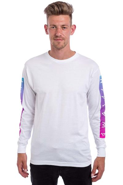 Welcome Scrawl Bar Longsleeve (white pink blue)