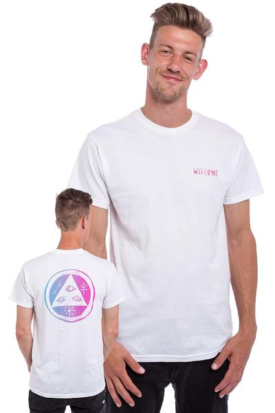 Welcome Talisman Gradient T-Shirt (white pink blue)
